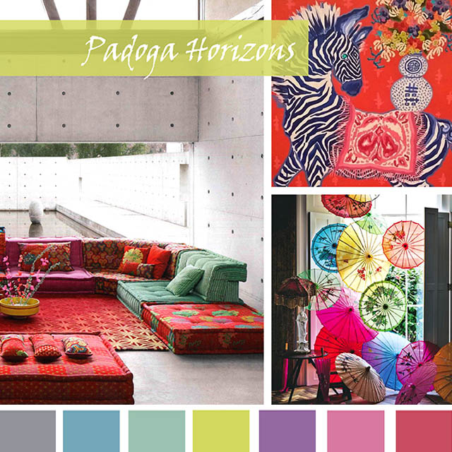 #DesignOptions SS19 color report on #WeConnectFashion, Interiors Market Mood: Padoga Horizons.
