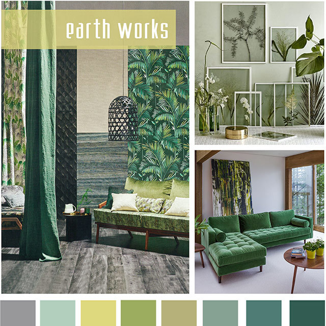 #DesignOptions SS18 color report on #WeConnectFashion, Home Furnishing mood: Earth Works.