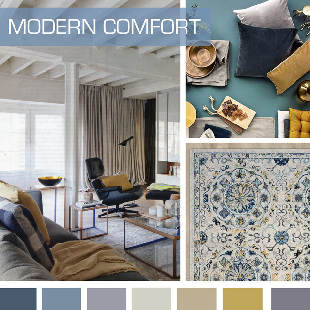 #DesignOptions SS18 color report on #WeConnectFashion, Home Furnishings mood: Modern Comfort.