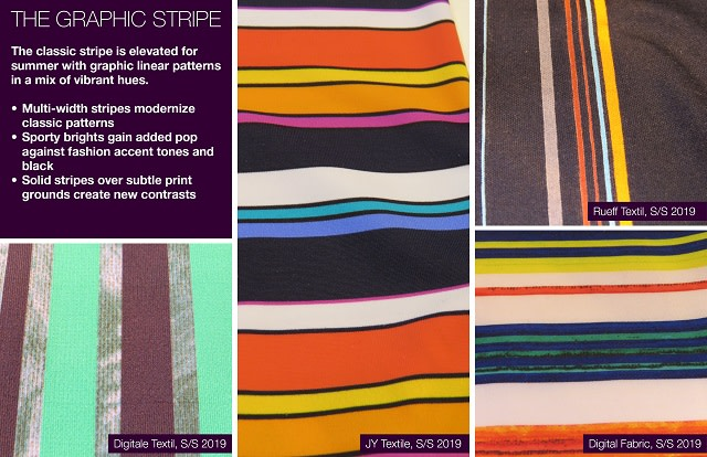 #Trendstop SS 2019 trends on #WeConnectFashion. Material Directions: The Graphic Stripe