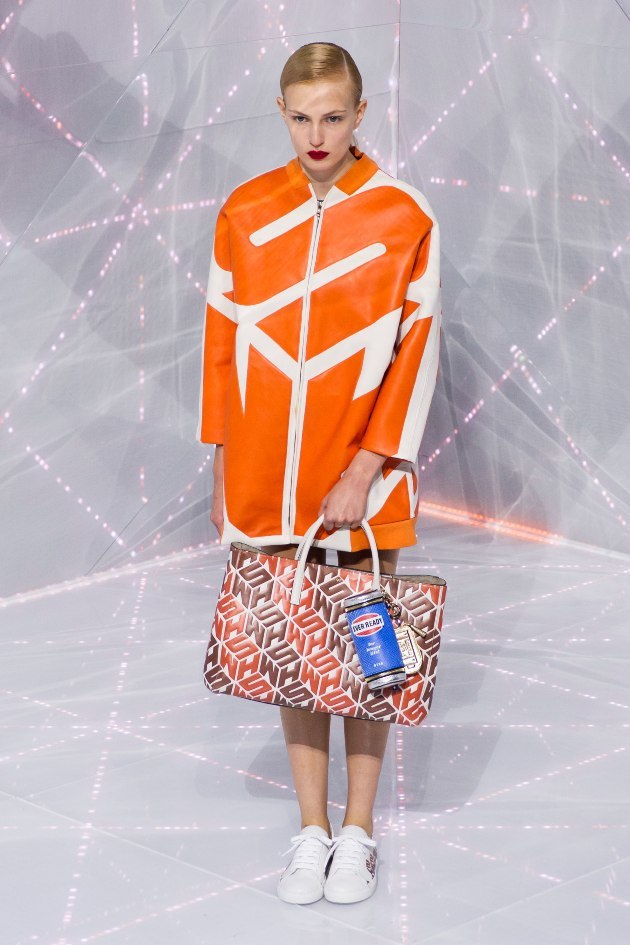 Seen on #WeConnectFashion courtesy of #Trendstop, Runway SS 2016 color, Magma Orange, Anya Hindmarch
