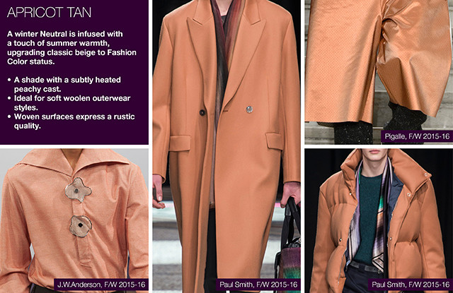 #Trendstop on #WeConnectFashion, Key Menswear Colors FW 16/17.
