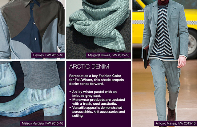 #Trendstop on #WeConnectFashion, Key Menswear Colors FW 16/17: Arctic Denim.