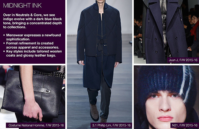 #Trendstop on #WeConnectFashion, Key Menswear Colors FW 16/17: Midnight Ink.