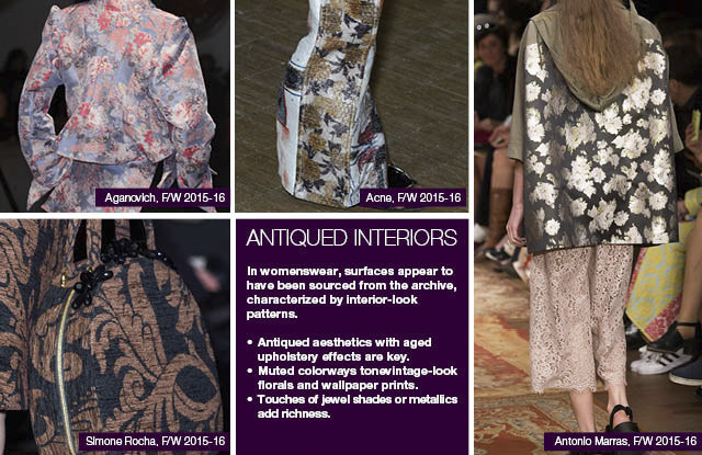 #Trendstop seen on #WeConnectFashion, women's print direction FW 16/17 and mainstream FW 17/18: Antiqued Interiors