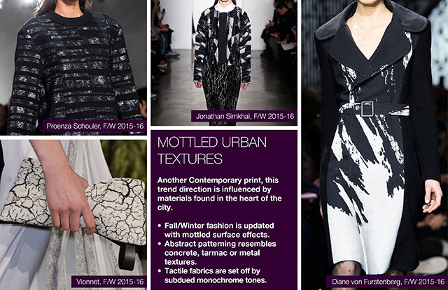 #Trendstop on #WeConnectFashion, Key Womenswear Print Trends FW 16/17: Mottled Urban Textures.