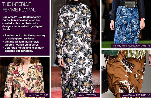 #Trendstop on #WeConnectFashion, Key Womenswear Print Trends FW 16/17: The Interior Femme Floral.