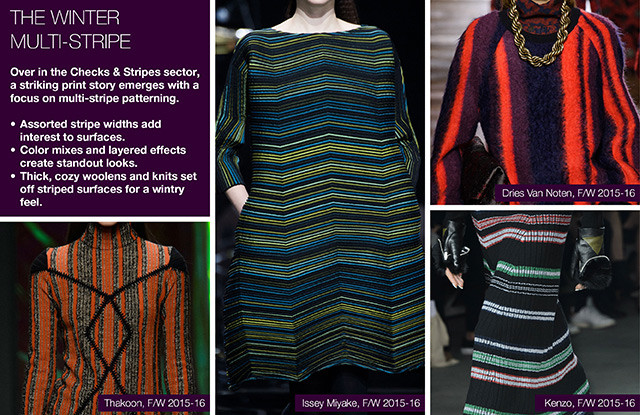 #Trendstop on #WeConnectFashion, Key Womenswear Print Trends FW 16/17: The Winter Multi-Stripe.