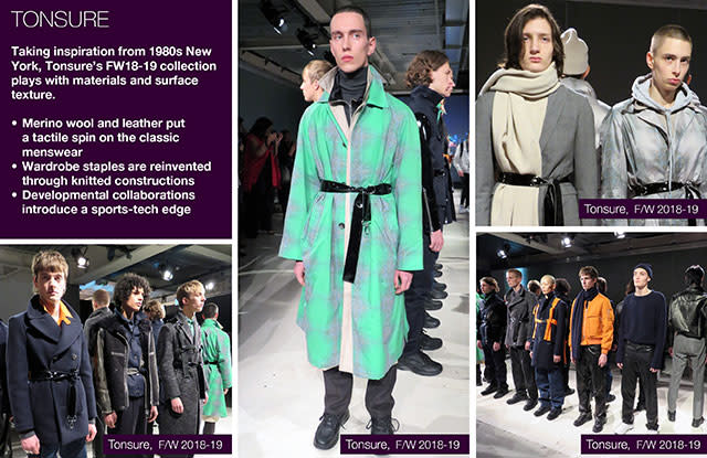 #Trendstop FW18-19 London Fashion Week #WeConnectFashion. Menswear designer: Tonsure