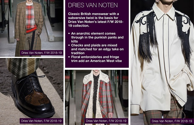 #Trendstop FW 18/19 Menswear Fashion Week on #WeConnectFashion. Designer Collection: Dries Van Noten