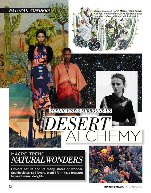#Pattern People FW 17/18 trend preview, Desert Alchemy, on #WeConnectFashion