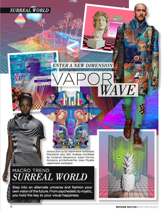 #Pattern People FW 17/18 trend preview, Vapor Wave, on #WeConnectFashion