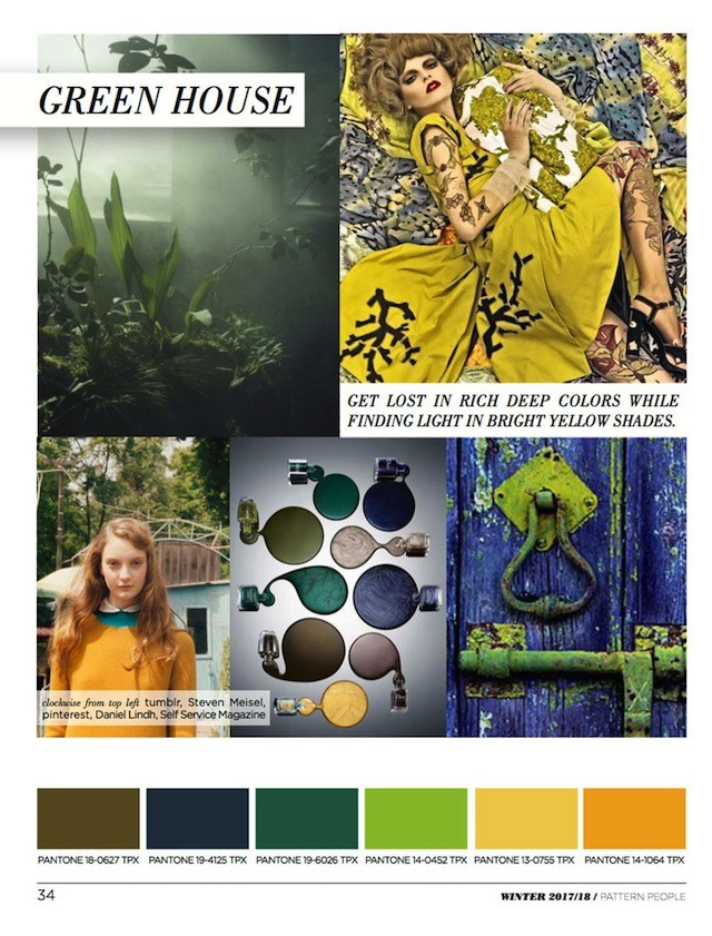 #Pattern People FW 17/18 trend preview, Green House Color, on #WeConnectFashion