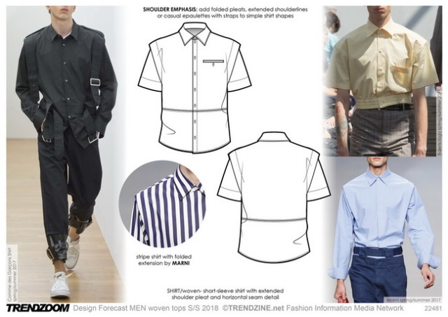 #Trendzine SS 2018 trends on #WeConnectFashion. Menswear, shirts/woven tops