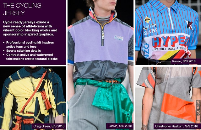 #Trendstop SS18 Menswear trends on #WeConnectFashion. Mood: The Cycling Jersey