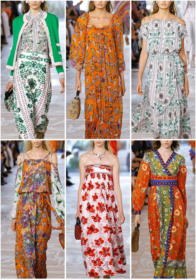 Patternbank on #WeconnectFashion. NYFW Spring 2017 - Tory Burch, photo courtesy of #Vouge