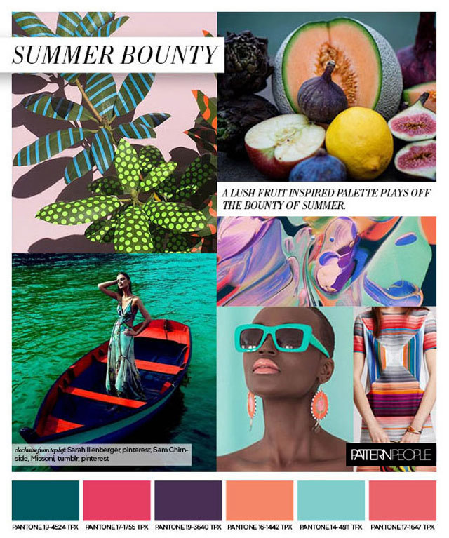 #PatternPeople on #WeConnectFashion SS17 trend board. Women's print and pattern, Summer Bounty