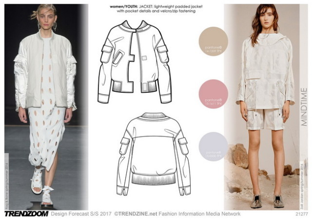 #Trendzoom on #WeConnectFashion SS17 trend board. Women's seasonal direction, Mindtime