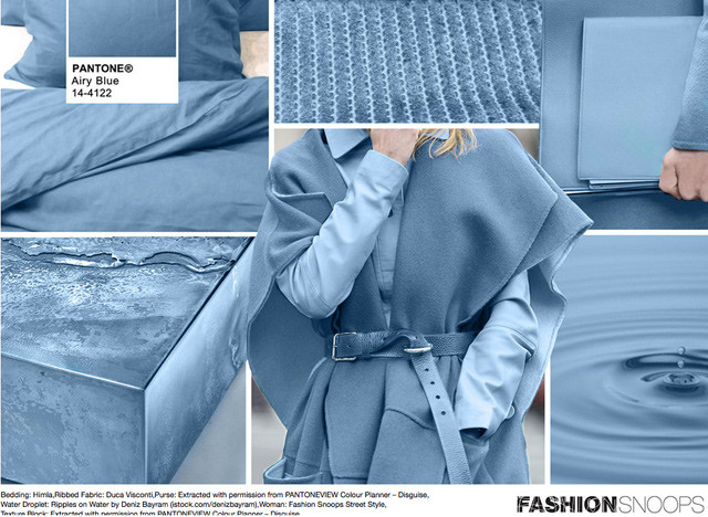 #Pantone #FashionSnoops NYFW Fall 2016 Report on #WeConnectFashion. Key Color: Airy Blue