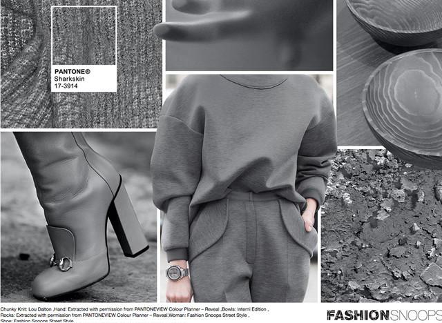 #Pantone #FashionSnoops NYFW Fall 2016 Report on #WeConnectFashion. Key Color: Sharkskin