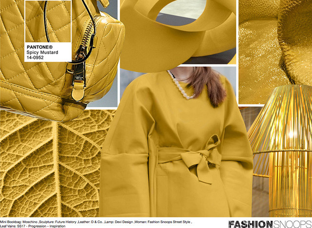 #Pantone #FashionSnoops NYFW Fall 2016 Report on #WeConnectFashion. Key Color: Spicy Mustard