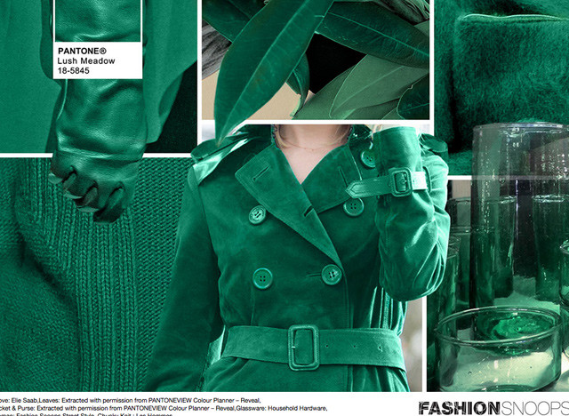 #Pantone #FashionSnoops NYFW Fall 2016 Report on #WeConnectFashion. Key Color: Lush Meadow