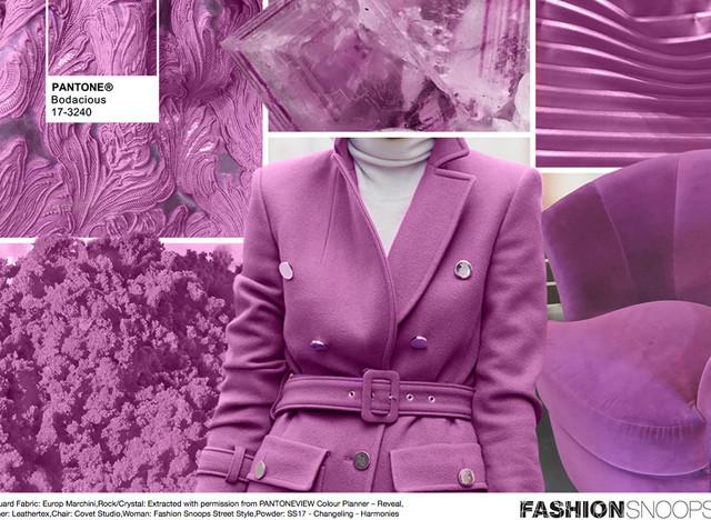 #Pantone #FashionSnoops NYFW Fall 2016 Report on WeConnectFashion. Key Color: Bodacious