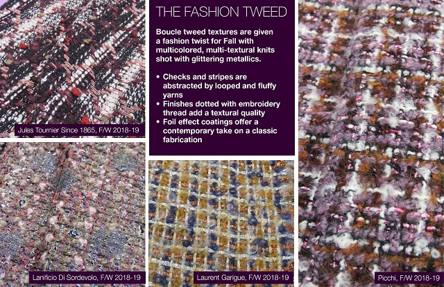 #Trendstop F/W 2018-19 trends on #WeConnectFashion. Material Directions: The Fashion Tweed