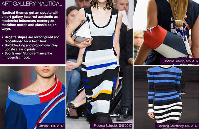 #Trendstop Top Runway Collections on #WeConnectFashion. Women's Print SS17: Art Gallery Nautical