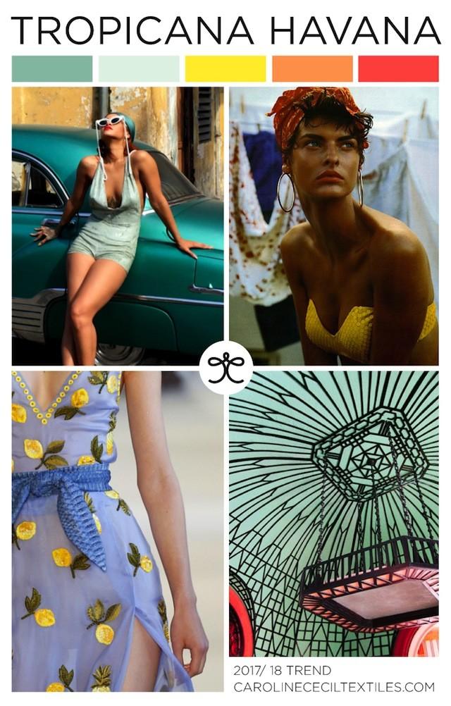#CarolineCecil on #WeConnectFashion. SS18 emerging trend: Tropicana Havana