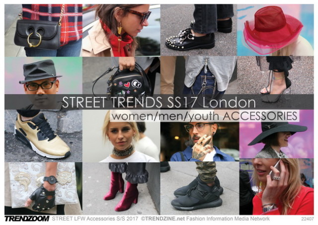 #Trendzine SS 2017 trends on #WeConnectFashion. STREET London Fashion Week: Accessories