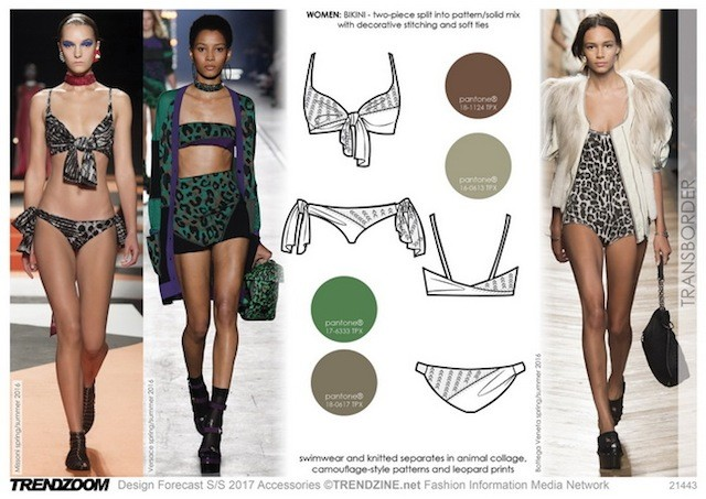 #Trendzine SS17 swimwear trends on #WeConnectFashion - Women's market, Transborder mood