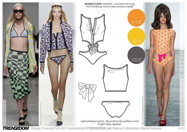 #Trendzine SS17 swimwear trends on #WeConnectFashion - Women's Contemporary mood: Grounded.