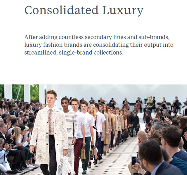 #JWT future 2016 #trend report on #WeConnectFashion, luxury brands consolidate for a singular brand message