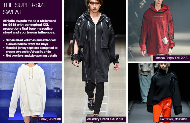 #Trendstop SS18 Tokyo Fashion Week trends on #WeConnectFashion. Items: The Super-Size Sweat