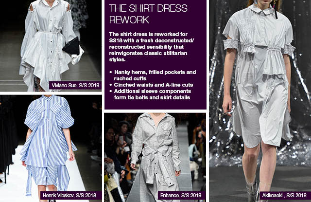 #Trendstop SS18 Tokyo Fashion Week trends on #WeConnectFashion. Items: The Shirt Dress Rework