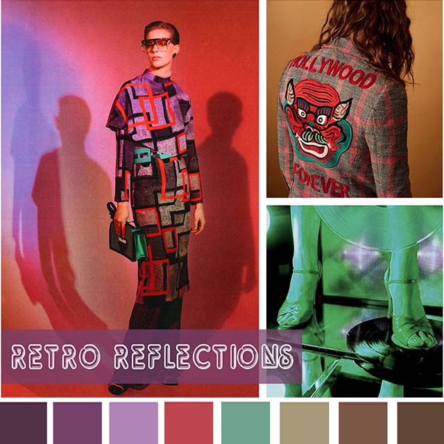 #DesignOptions FW18/19 color report on WeConnectFashion, Women's Market Mood: Retro Revolution.