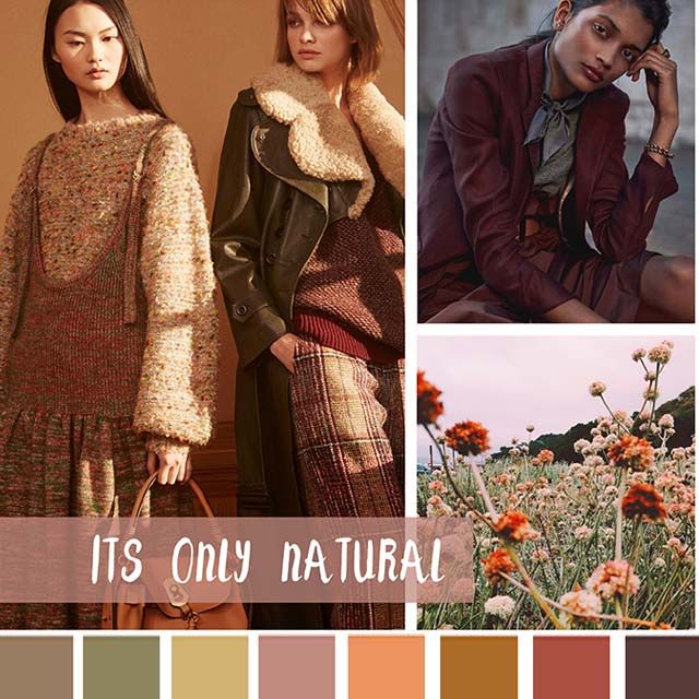 #DesignOptions FW18/19 color report on #WeConnectFashion, Women's Market Mood: It's Only Natural.