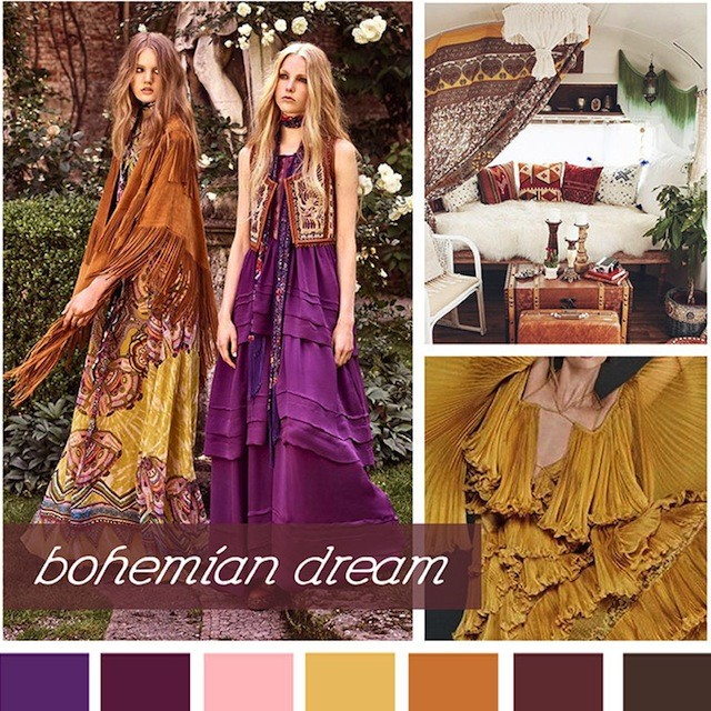 #DesignOptions SS18 color report on #WeConnectFashion, Women's market mood: Bohemian Dream.