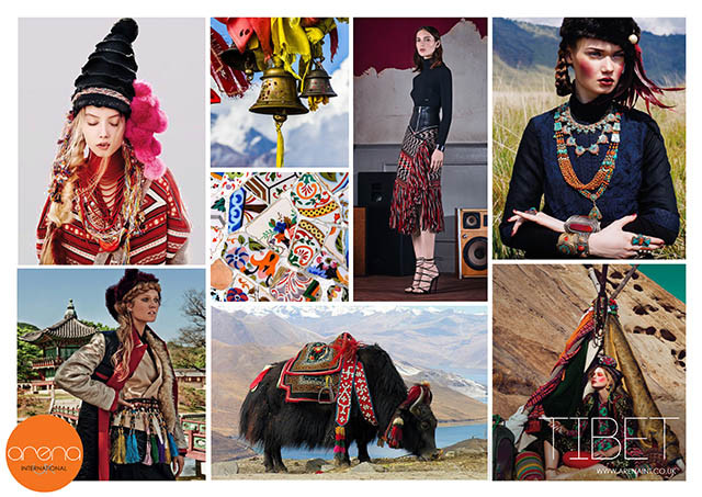 #ArenaInternationalUK on #WeConnectFashion, Key Seasonal Direction, F/W 2016 - 2017, Women's trend: Tibet