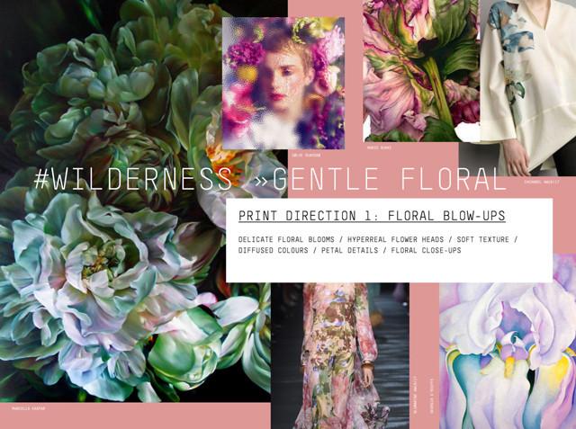 #Patternbank FW 17/18 print direction on #WeConnectFashion: Wildernes > Gentle Floral.