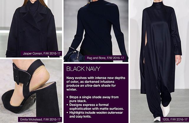 #Trendstop on #WeConnectFashion, Key Women's Catwalk Color FW 16/17: Black Navy.