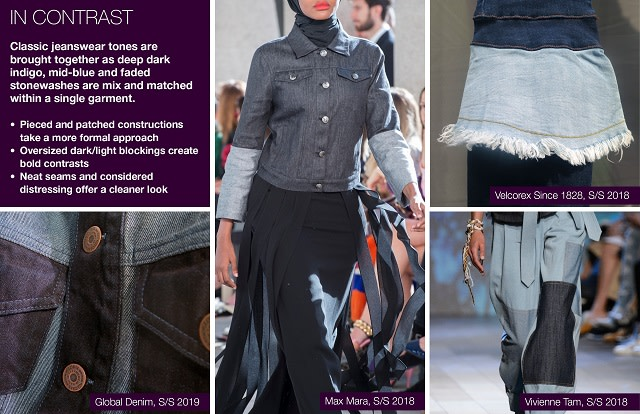 #Trendstop SS19 Denim Trends on #WeConnectFashion. Theme: In Contrast