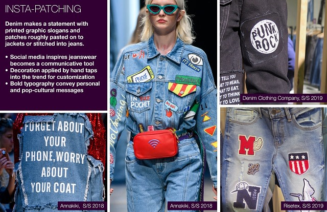 #Trendstop SS19 Denim Trends on #WeConnectFashion. Theme: Insta-Patching