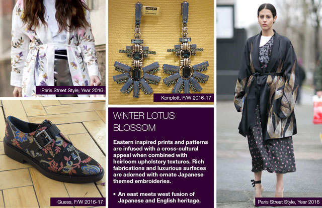 Trendstop FW 17-18 trends on #WeConnectFashion: Women's theme: Winter Lotus Blossom