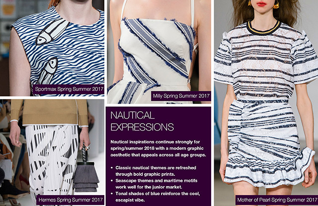 #Trendstop Print trends on #WeConnectFashion. SS 2018 Insight: Nautical Expressions