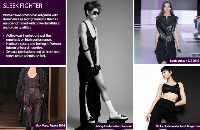 #Trendstop Women's FW 17-18 trends on #WeConnectFashion. Macro theme: Sleek Fighter