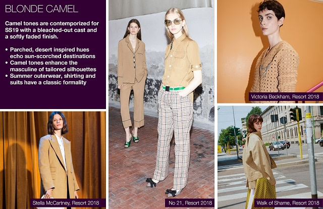 #Trendstop SS19 color trends on #WeConnectFashion. Mood: Blonde Camel