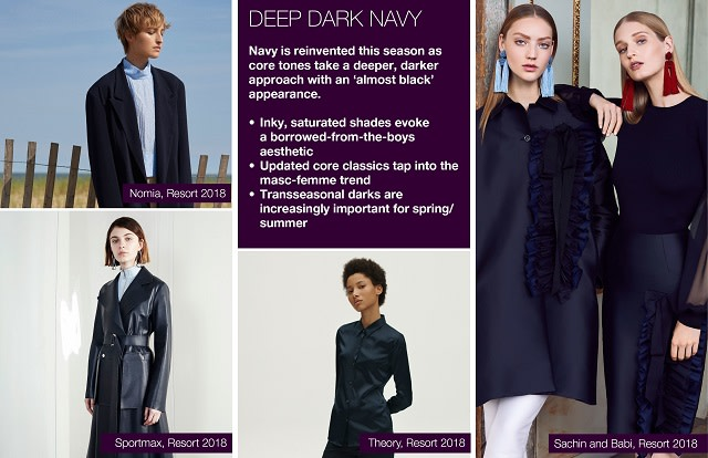 #Trendstop SS19 color trends on #WeConnectFashion. Mood: Deep Dark Navy