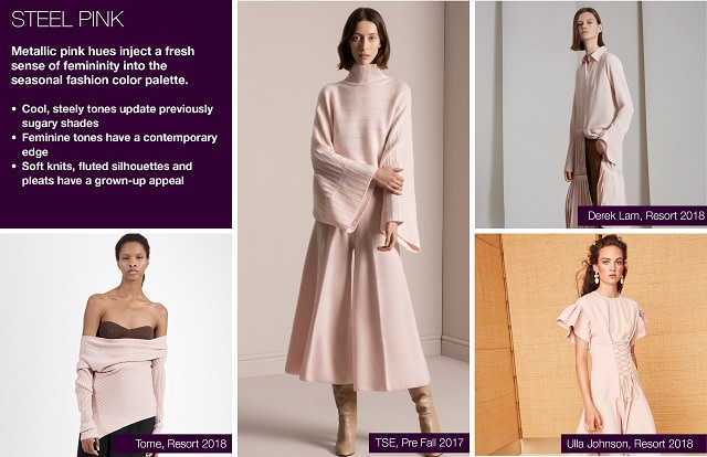 #Trendstop SS19 color trends on #WeConnectFashion. Mood: Steel Pink